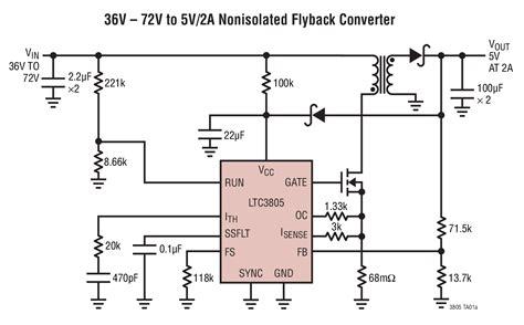 flyback capacitor multilevel inverter ltc3805 adjustable frequency current mode flyback dc dc controller linear technology