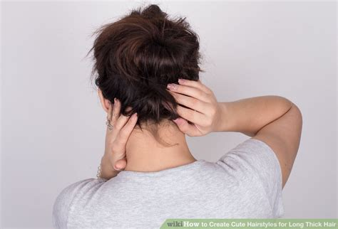 how to make a good hairstyle with thick hair for boys 3 ways to create cute hairstyles for long thick hair wikihow