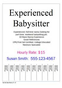 Pin babysitting flyer template printable my legal review on pinterest