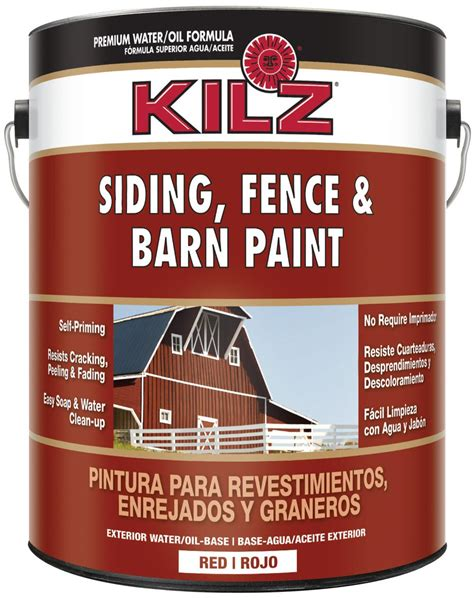 kilz exterior siding fence and barn paint 1 gallon home improvement