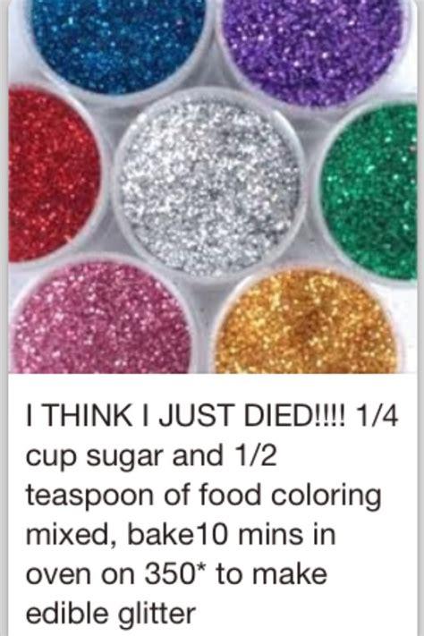 edible glitter sugar 1 4 cup sugar 1 2 tsp food coloring