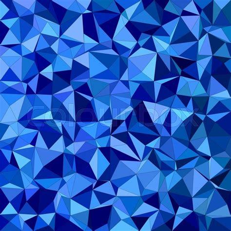 blue irregular triangle mosaic vector stock vector