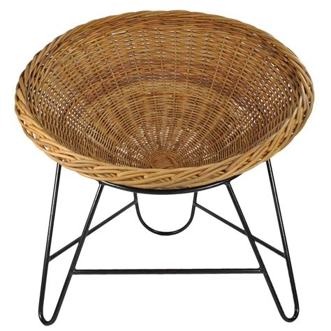 Rattan Basket Chair Wicker Basket Chair At 1stdibs