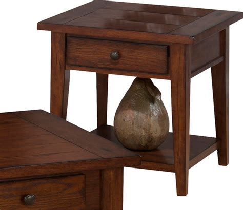 jofran 443 3 clay county square end table with drawer and