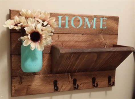 etsy home decor rustic home decor key holder home by teestransformations
