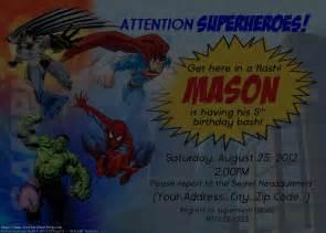 superhero birthday party invitations card free
