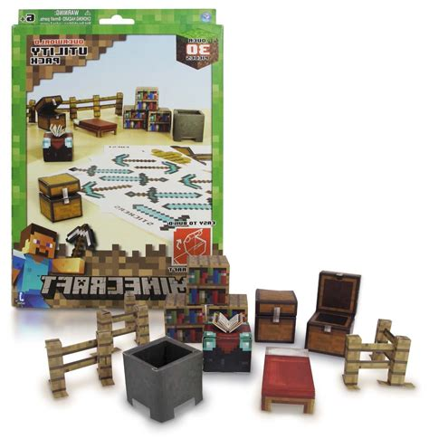 Minecraft Papercraft Overworld Set - overworld utility pack minecraft papercraft kit series