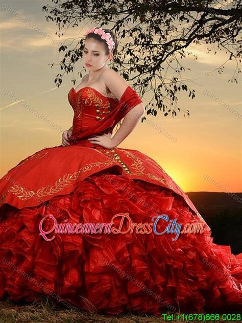 western themed quinceanera dresses western theme popular sweetheart organza and taffeta red
