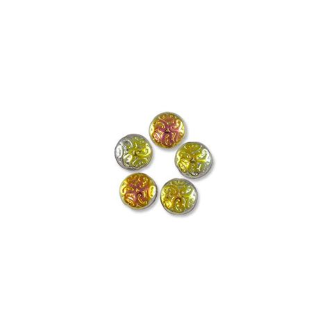 where to buy beading supplies pressed glass button bead 13mm glass