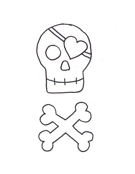 pirate template best photos of skull outline template sugar skull felt
