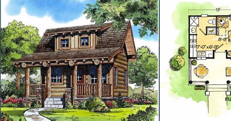 6 tiny floor plans for cozy cottages with surprisingly luxurious 6 really cozy little log cabin floor plans