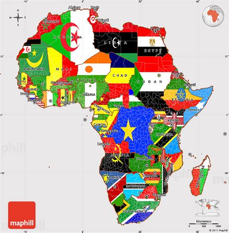 africa map flags flag simple map of africa