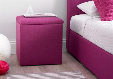 bedside storage portofino bedside storage cube pink bedside tables