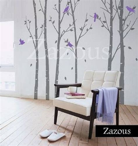 zazous wall stickers wall stickers forest grey by zazous notonthehighstreet