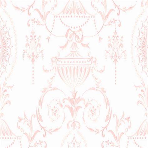 Trisia Powder White Pink White ls71500 pink and white tricia damask wallpaper boulevard