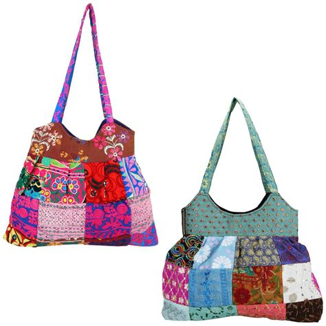 Patchwork Bag - s mosaic embroidered patchwork bag