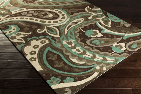Brown And Aqua Area Rugs by Surya 1158 Chocolate Aqua Beige Closeout Area Rug