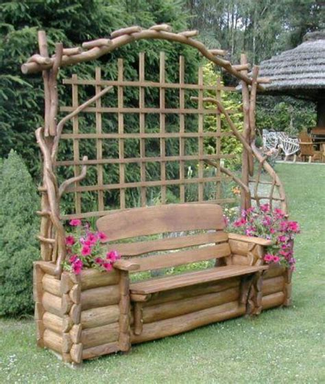 garden bench with trellis amazing bench planter trellis gardens patios