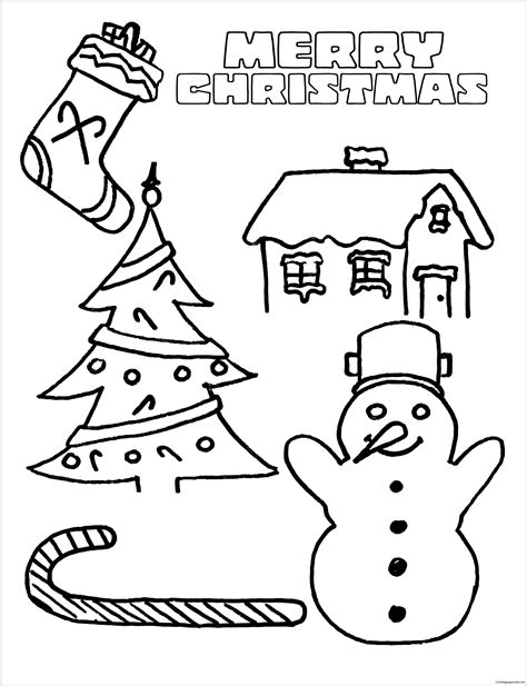 merry christmas  coloring page  coloring pages
