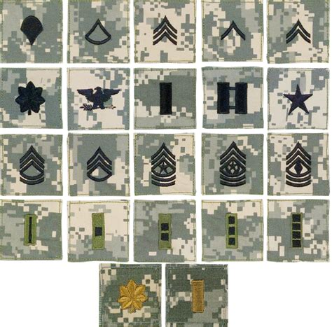 Us Armi 0s acu digital camo rank insignia us army patch