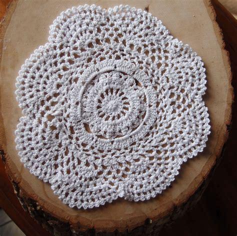Handmade Doilies - 8 quot handmade cotton crochet doilies white 2 pack