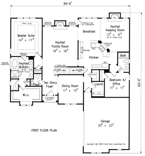 Frank Betz Floor Plans by Ashworth House Floor Plan Frank Betz Associates