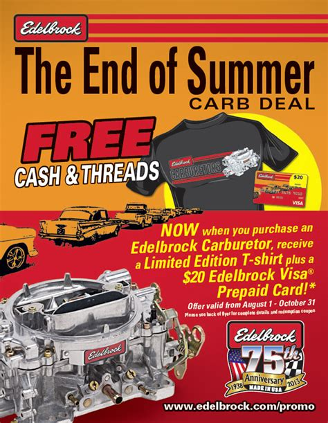 The End Of Summer 2013 Edelbrock S End Of Summer Carburetor Deal Chevy Hardcore