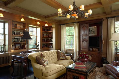 den traditional family room
