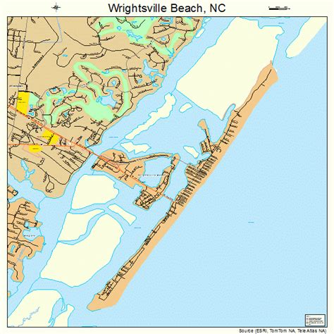 carolina map of beaches wrightsville carolina map 3775820
