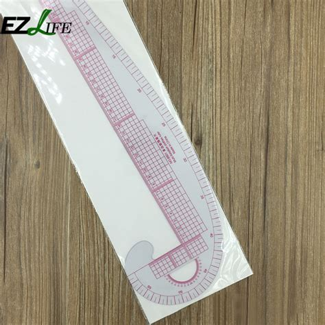 pattern makers rule plastic french curve metric sewing ruler measure for
