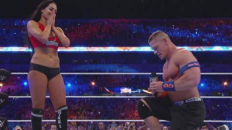 nikki bella engaged nikki bella and john cena got engaged at wrestlemania 33