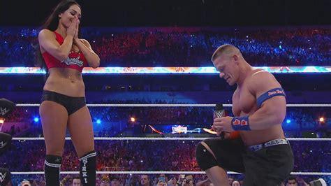 nikki bella proposal nikki bella and john cena got engaged at wrestlemania 33