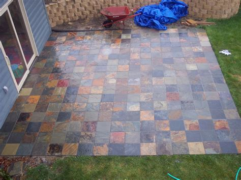 Backyard Tile Ideas Slate Tile Patio Bartblog