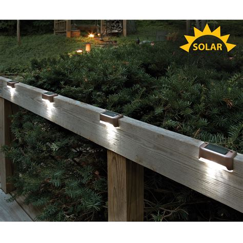 outdoor solar deck lights solar led deck lights set of 4 from sporty s tool shop