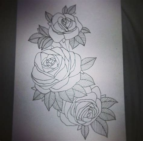 rose thigh tattoo designs roses design i drew for a thigh ink
