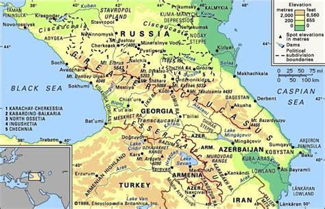russia and the caucasus map quiz caucasus region and mountains eurasia encyclopedia