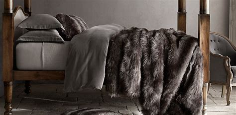 faux fur bed faux fur oversized bed throw rh