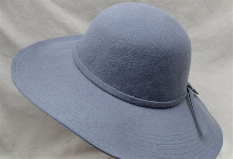 wide brim floppy wool felt hat large brim grey felt hat