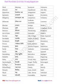 synonym word list pdf scalien