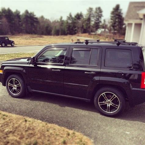 jeep patriot white with black rims jeep patriot black with enkei rims cars pinterest