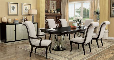 espresso dining room set ornette espresso extendable rectangular dining room set