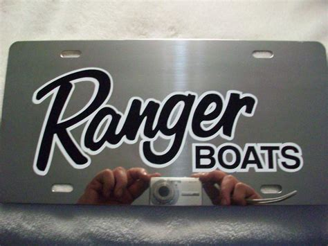 purchase ranger boat license plate motorcycle in cleveland - Ranger Bass Boat License Plate