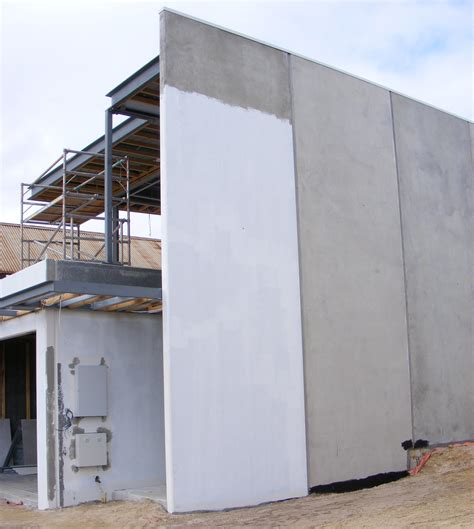 precast concrete house in construction