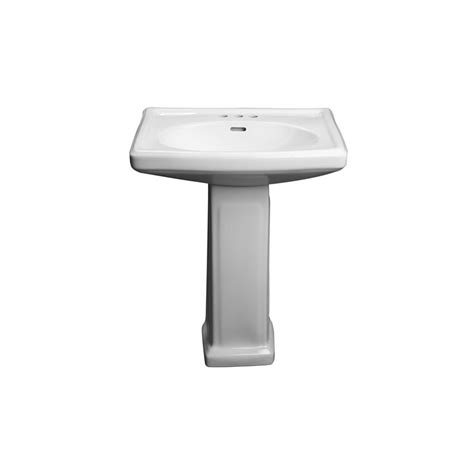 Handicap Pedestal Sink proflo pf14108wh white 27 quot centerset lavatory pedestal sink only faucetdirect