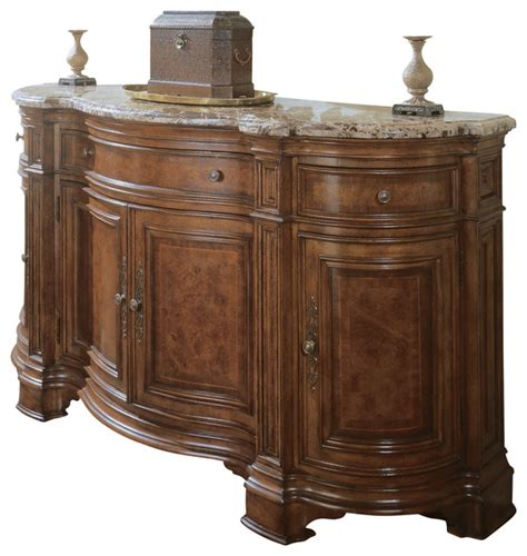 dining room sideboards and buffets marble top dining room sideboard credenza traditional buffets and sideboards by mahogany