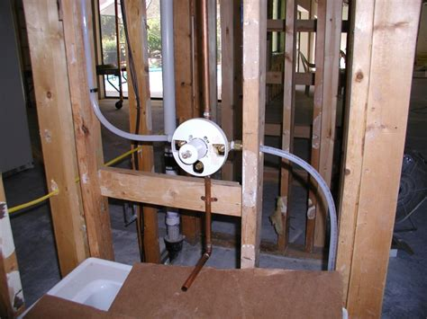 how to plumb a bathtub show pictures of plumbing in wall for shower tub combo