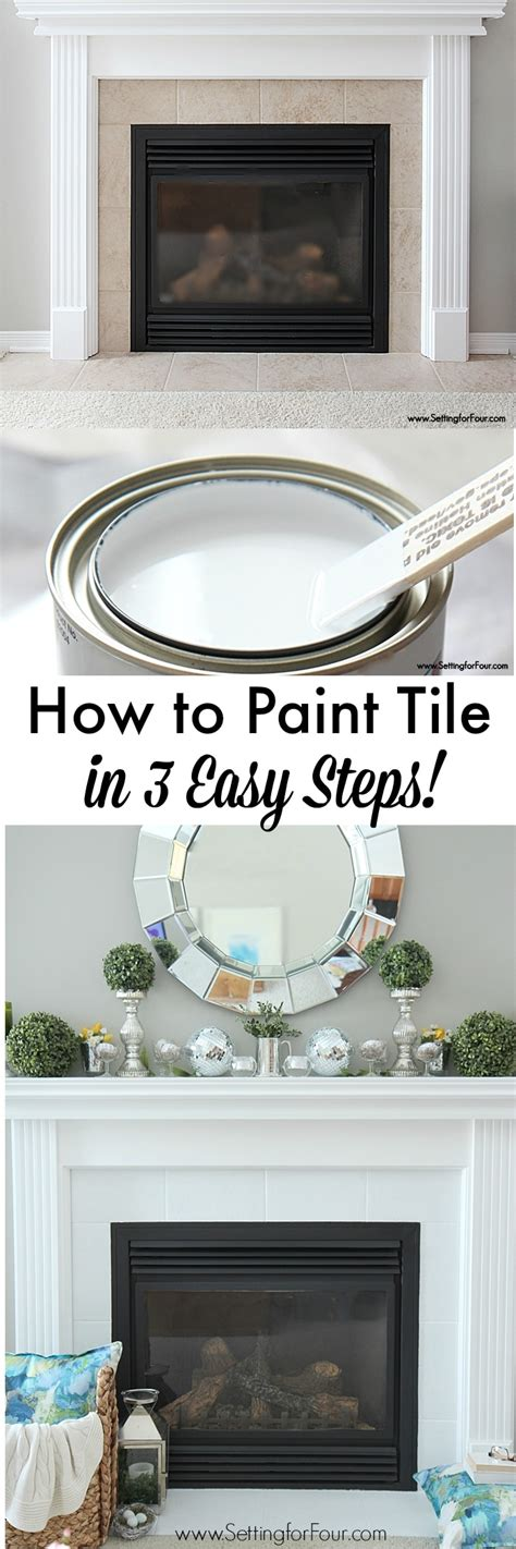 what paint to use on bathroom tiles how to paint tile easy fireplace paint makeover setting for four