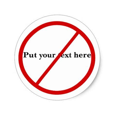 not allowed sticker zazzle