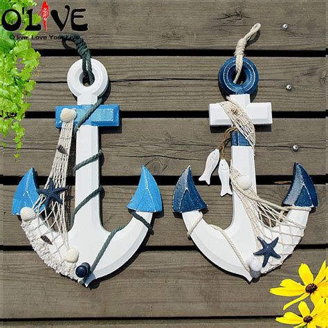 marine decorations for home wooden anchors decoration vintage home decor marine mediterranean style nautical decor crafts