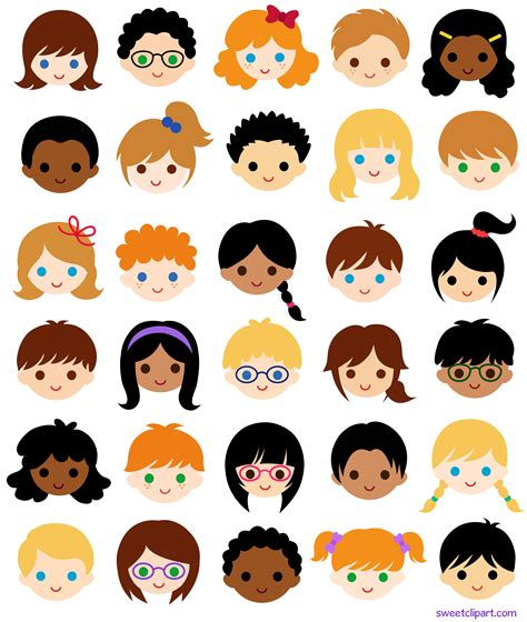 free childrens clipart 30 faces in school classroom free clip